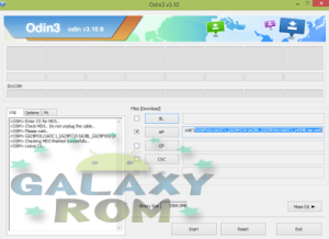 Now press the AP button and choose the ROM file with .tar.md5 that you just extracted it . See the following picture: